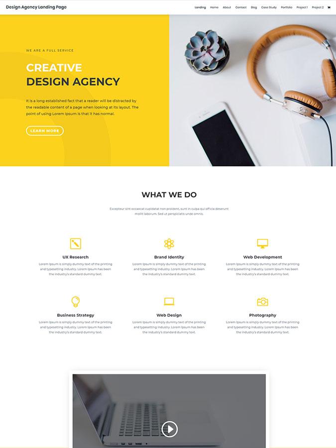Thème template wordpress divi créer site internet agence webdesign design webdevelopment