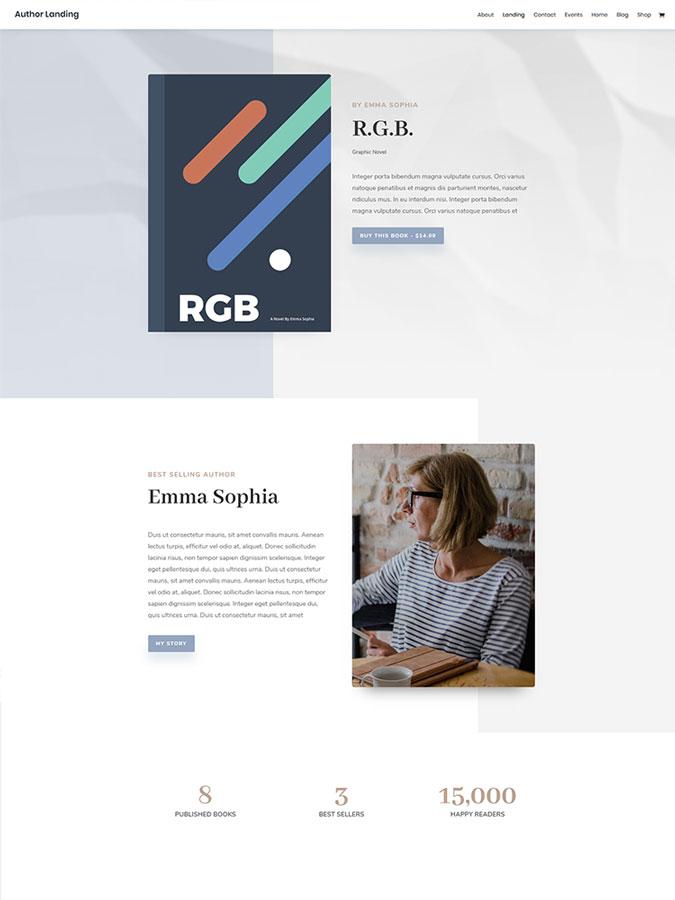 Thème wordpress auteur écrivain créer site internet blog boutique