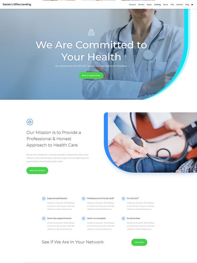 Thème wordpress divi créer site internet docteur médical santé médecin