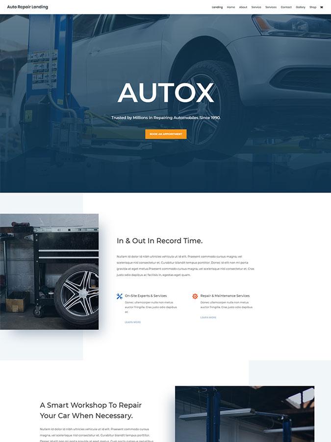Thème wordpress divi créer site web garagiste garage auto moto véhicules layouts templates