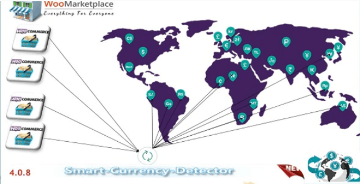 Smart currency detector plugins woocommerce detecter devises