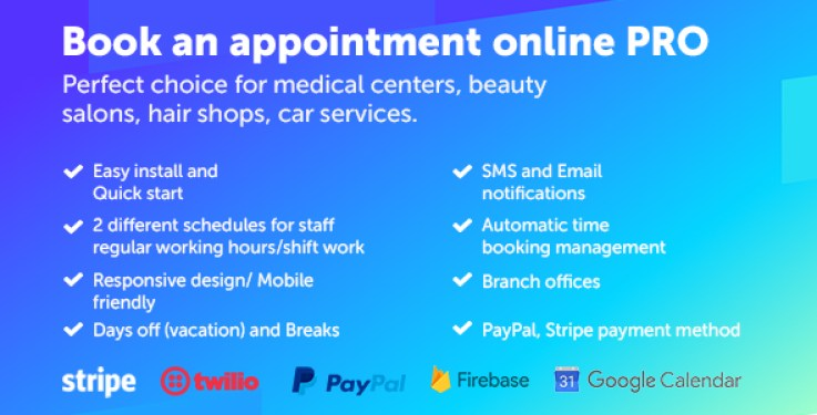 créer un site web de Booking - Booking an appointment