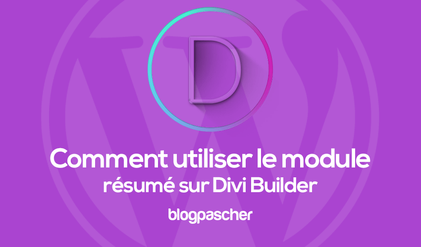 How to use the summary module on divi builder