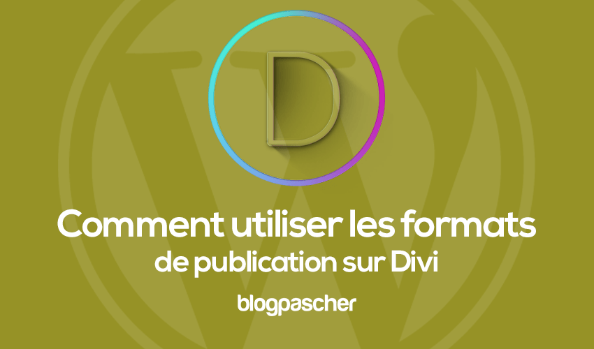 How to use the publication formats on divi