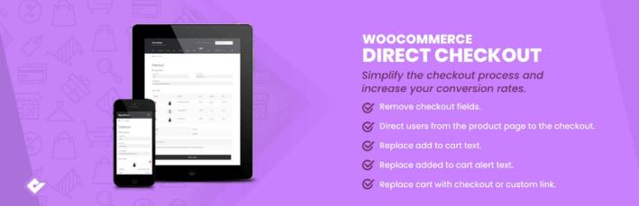 Direct checkout for woocommerce –wordpress plugin panier abandonnés