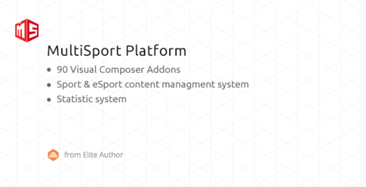 Msp multisport esport wordpress plugin with 90 visual composer addons