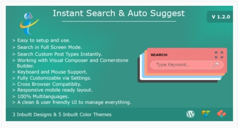 WP Instant Search Auto Suggest