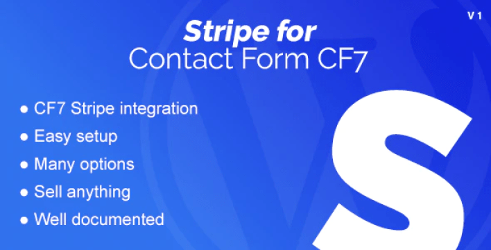 Stripe integration for contact form cf7 plugin wordpress
