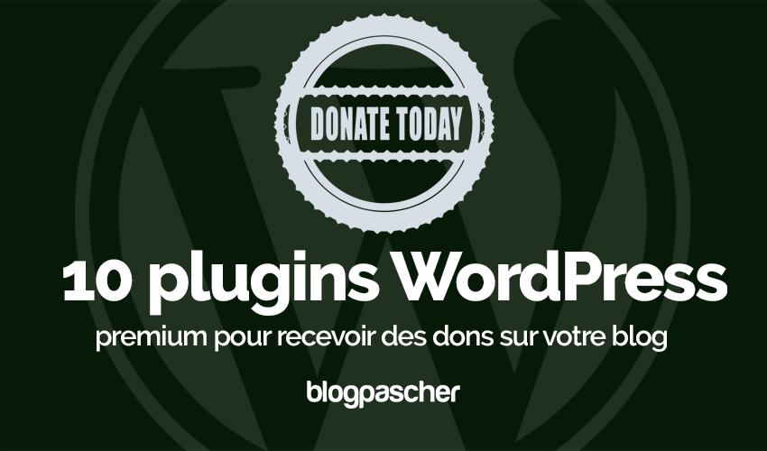Plugin Wordpress Recevoir Dons Blog