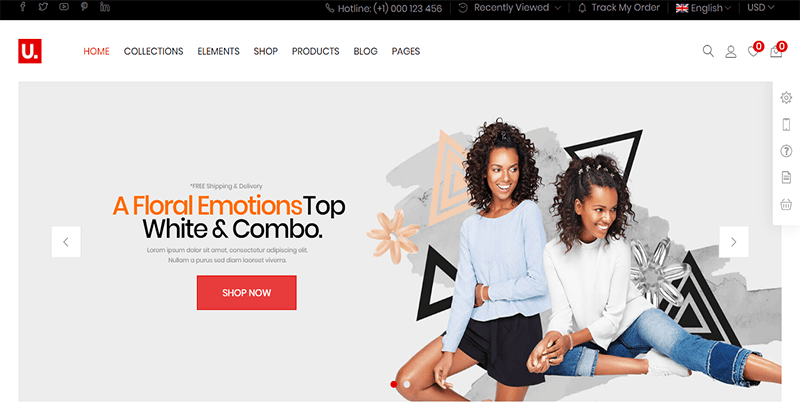 Urna thème wordpress premium creer boutique en ligne