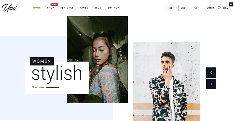 Urus thème wordpress premium creer boutique en ligne