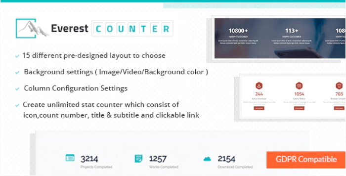 Everest counter beautiful stat counter plugin wordpress