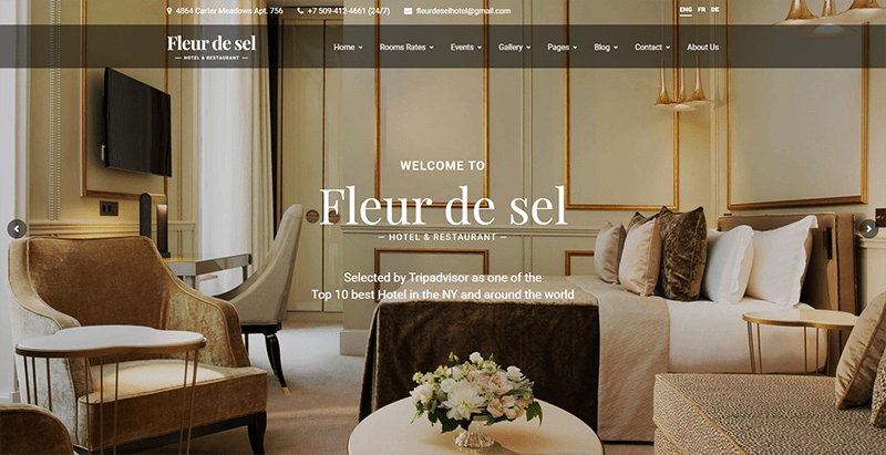 Fleurdesel Theme Wordpress Creer Site Web Entreprise Hotel