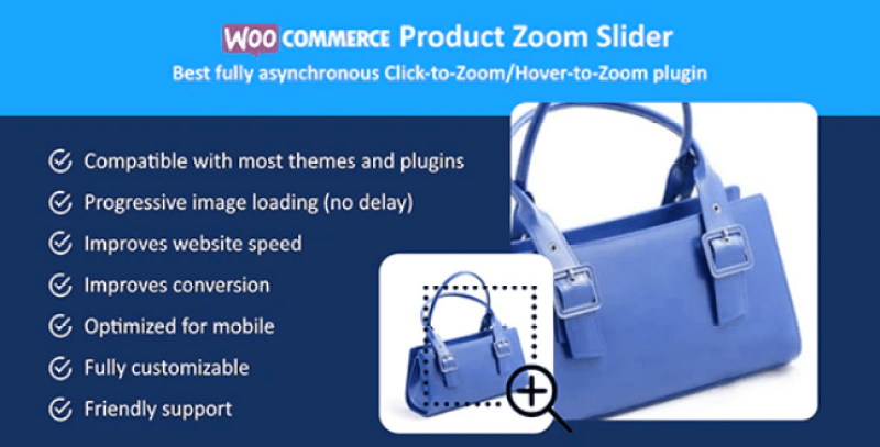 Woocommerce product zoom slider plugin pour slider