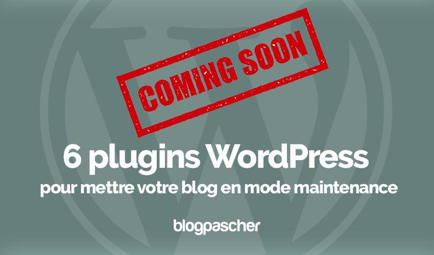 Plugins wordpress mettre site web en mode maintenance