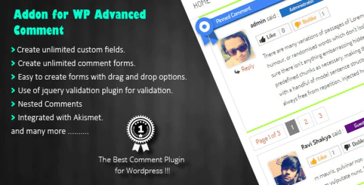 WP Advanced Comment plugin wordpress