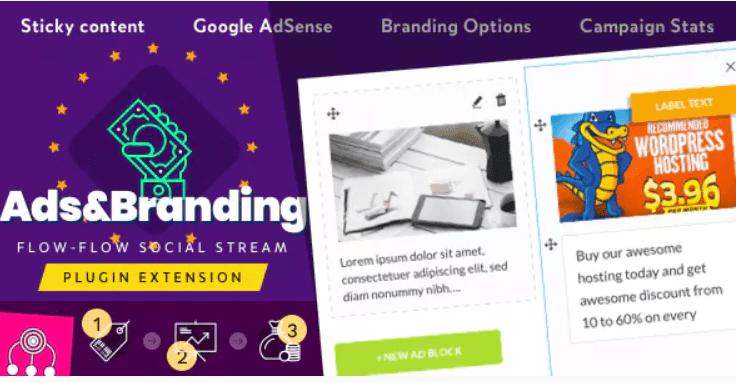 Plugin wordpress advertisement branding for flow flow social stream