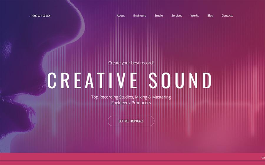Thème Moto CMS 3 pour site de musique en ligne