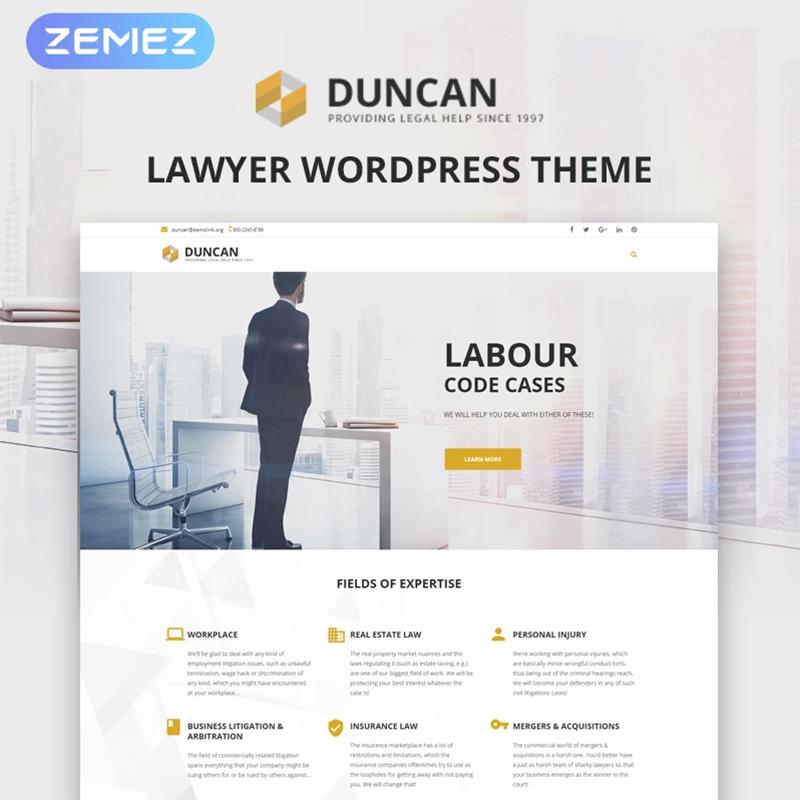 Адвокат WordPress Theme