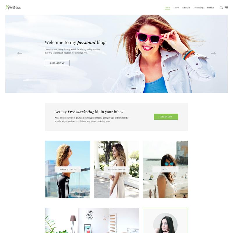 xPress - Tema de WordPress para un blog minimalista