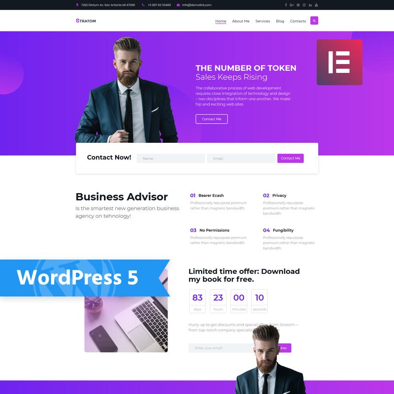 Stratom - Business Multipurpose Animated Elementor WordPress Theme