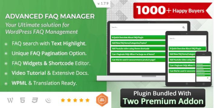 Bwl advanced faq manager wordpress plugin