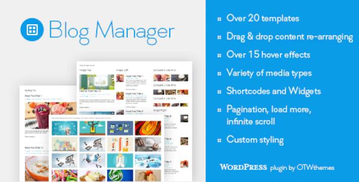 Blog manager for wordpress plugin