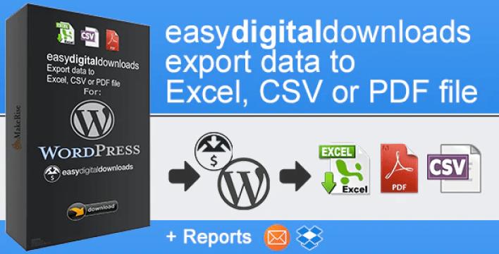 Easydigitaldownloads export by makerise codecanyon