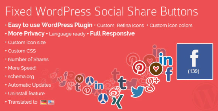 Fixed wordpress social share buttons plugin wordpress