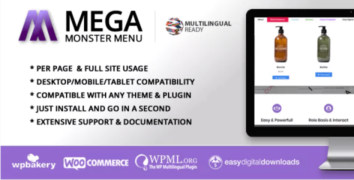 Mega Menu Monster WordPress Mega Menu Plugin