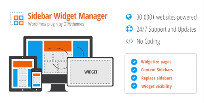 Sidebar widget manager for wordpress plugin