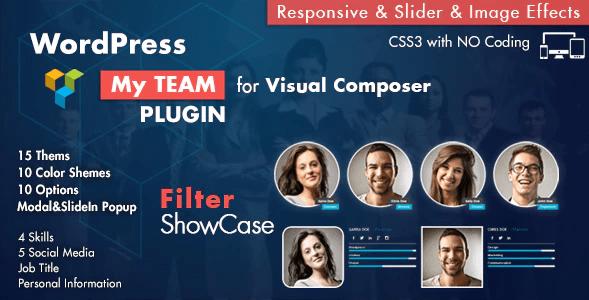 Team Showcase For Visual Composer Wordpress Plugin