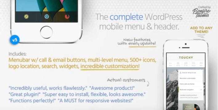 Touchy wordpress mobile menu plugin wordpress