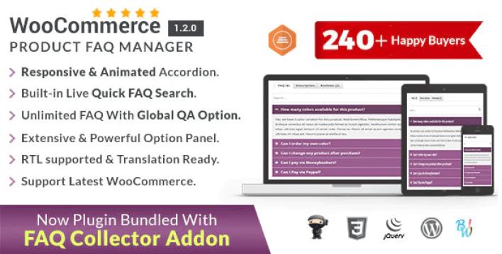 Woocommerce product faq manager plugin wordpress