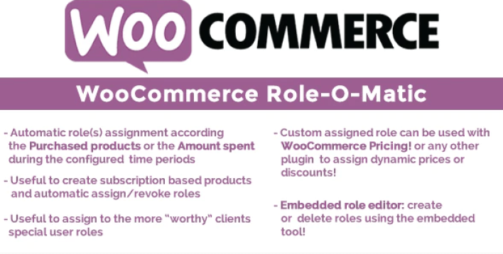 Woocommerce role o matic wordpress plugin