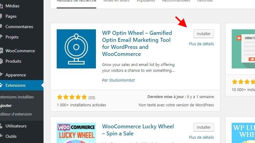 Install wp optin wheel