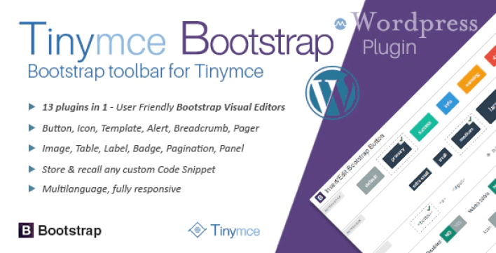 Tinymce bootstrap plugin for wordpress 1