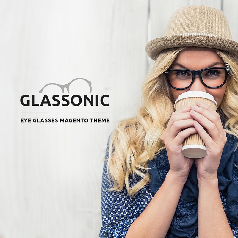 Thème Magento pour vente des lunettes designer
