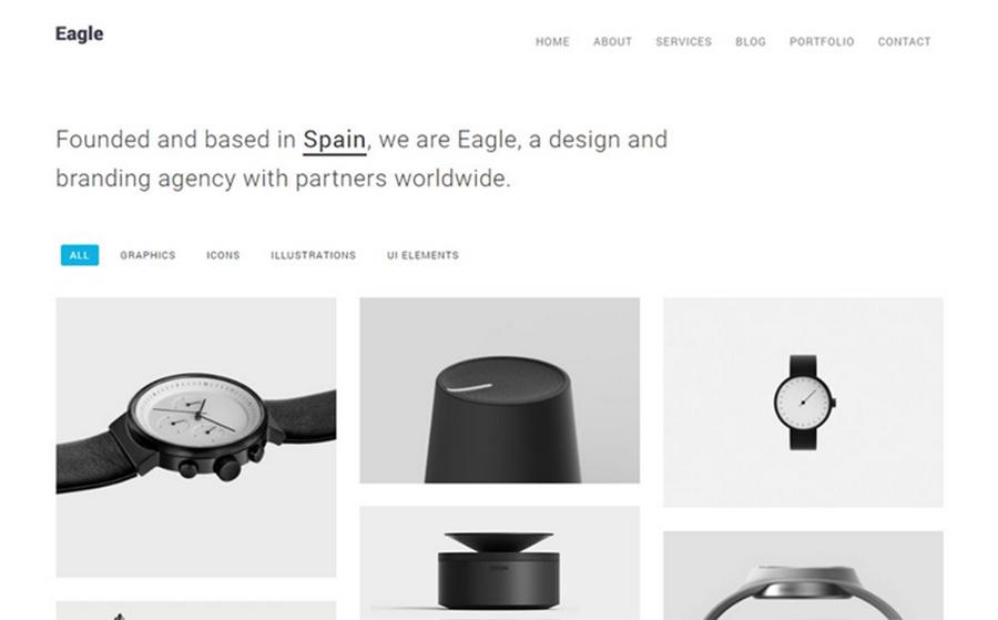 Eagle - Thème WordPress minimaliste pour site de photographie