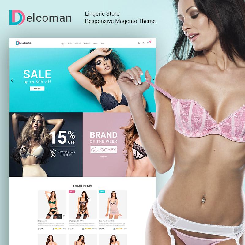Delcoman – Thème Magento pour Magasin de lingerie