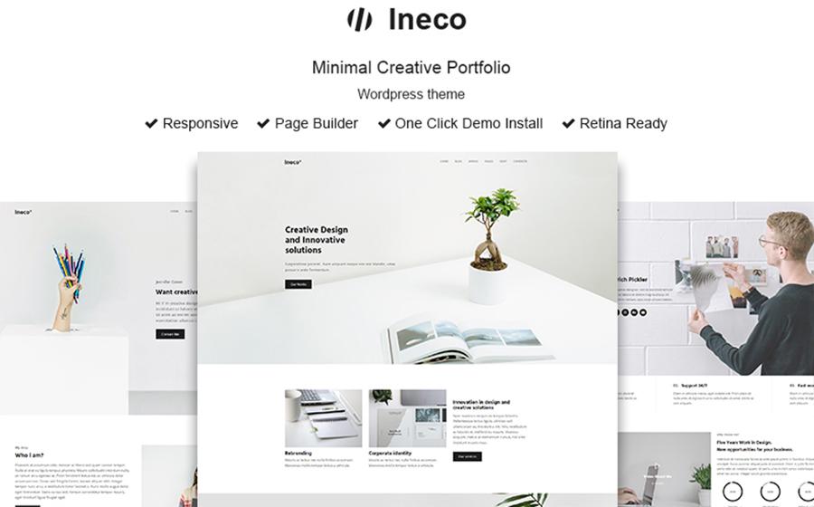 Ineco Minimal Creative Portfolio WordPress Theme
