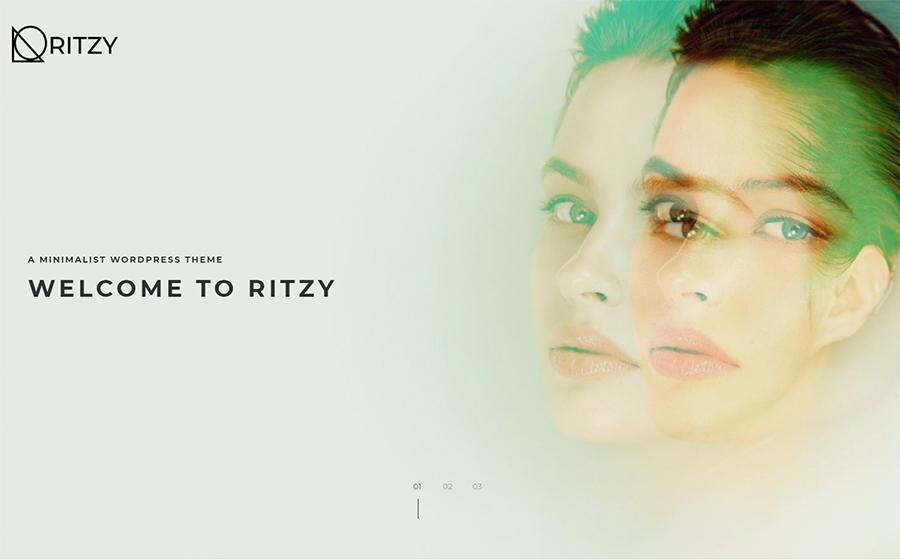 Ritzy - Thème WordPress minimaliste merveilleux pour site d'affaires