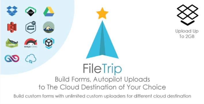 Filetrip einfach in Dropbox Google Drive S3 WordPress Plugin hochladen