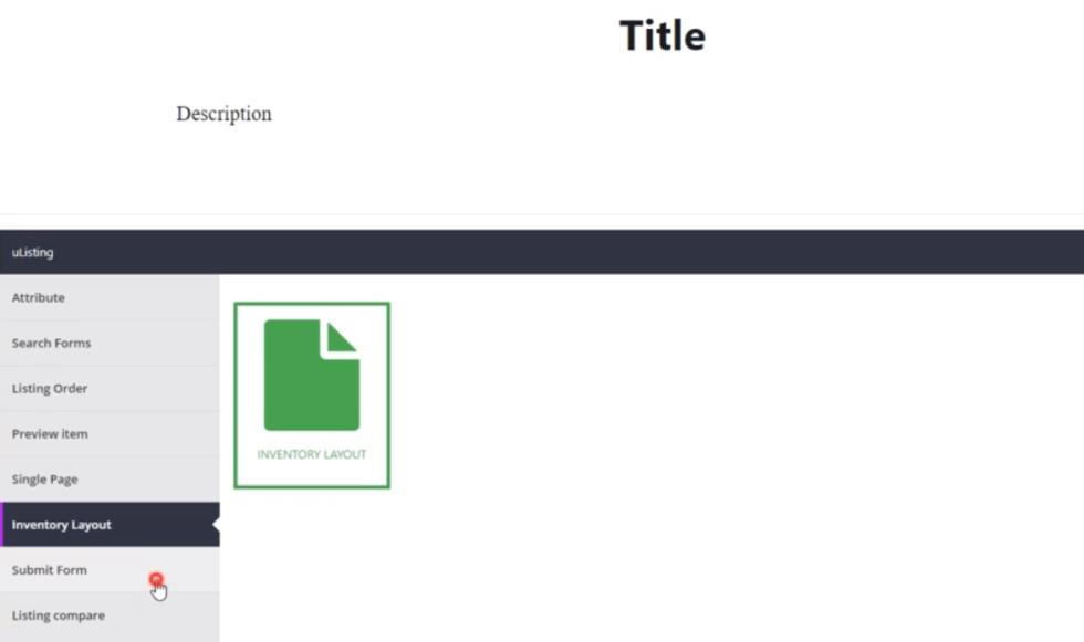 Inventory layout ulisting plugin wordpress