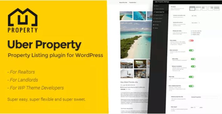 plugins WordPress pour créer un site web d'agence immobilière - Uber property