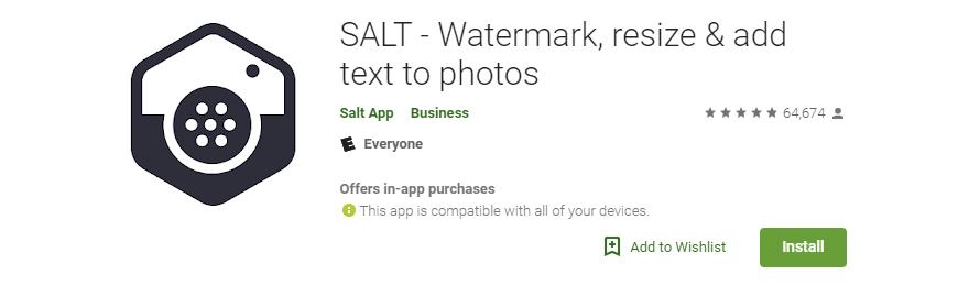 Salt watermak divi