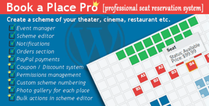 Book a place pro wordpress plugin