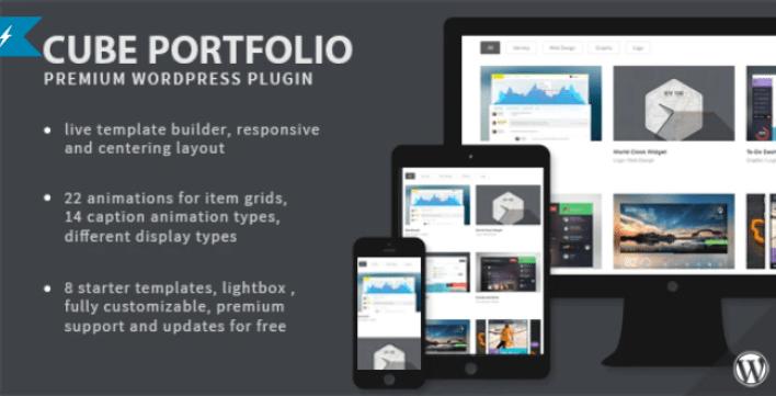 Cube portfolio responsive wordpress grid plugin wordpress