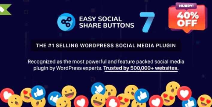 Wordpress eklentisi 2 için kolay sosyal paylaşım düğmeleri