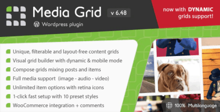 Media grid wordpress responsive portfolio plugin wordpress
